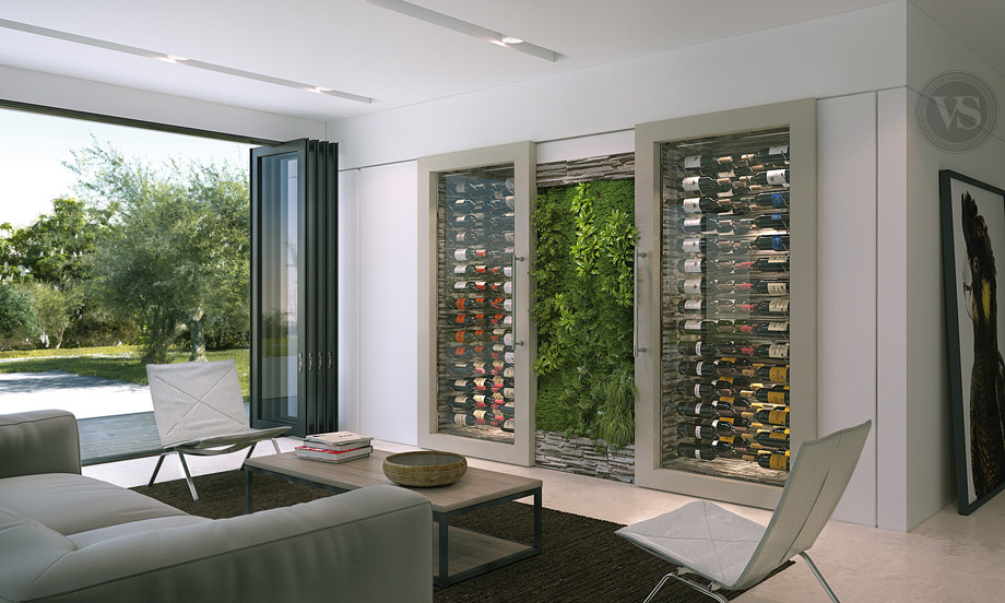 mur cave a vin. Black Bedroom Furniture Sets. Home Design Ideas